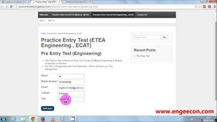 How to Attend Online Practice Entry Test