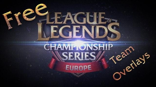 Free EU LCS Team Stream Overlays