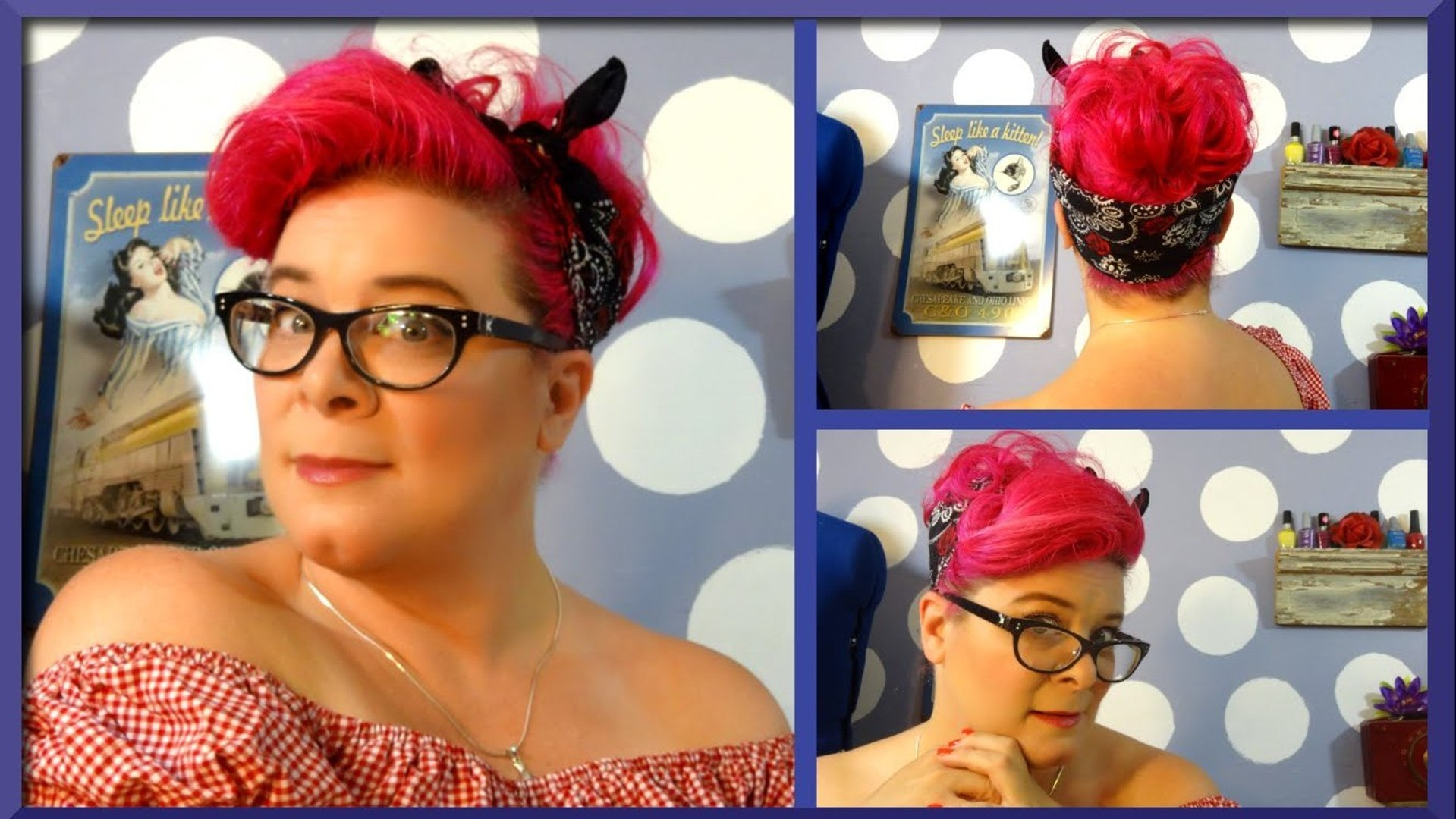 out the door rockabilly hairstyle ~ a vintage hair tutorial