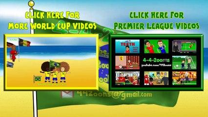 BRAZIL vs GERMANY Highlights 1-7 by 442oons (World Cup 2014 Semi-Final Cartoon 8.7.14)
