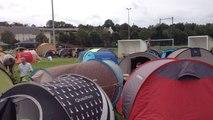 Installation des festivaliers au camping