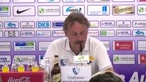 Pressekonferenz nach dem Spiel   Erzgebirge Aue - VfL Bochum 1-5