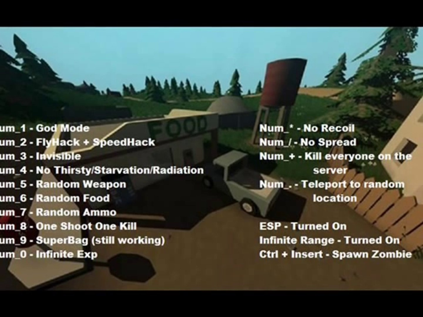 Unturned all cheat codes