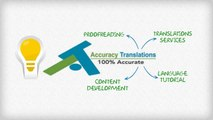 Accuracy Translations, Translations services, Video animations and proofreading and more...