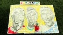 Coupe du Monde : Elle peint Ronaldo, Messi et Neymar avec des ballons de football