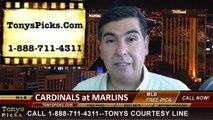 Miami Marlins vs. St Louis Cardinals Pick Prediction MLB Odds Preview 8-11-2014