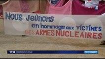 Reportages de France 3 Bourgogne sur le jeûne-action contre les armes atomiques