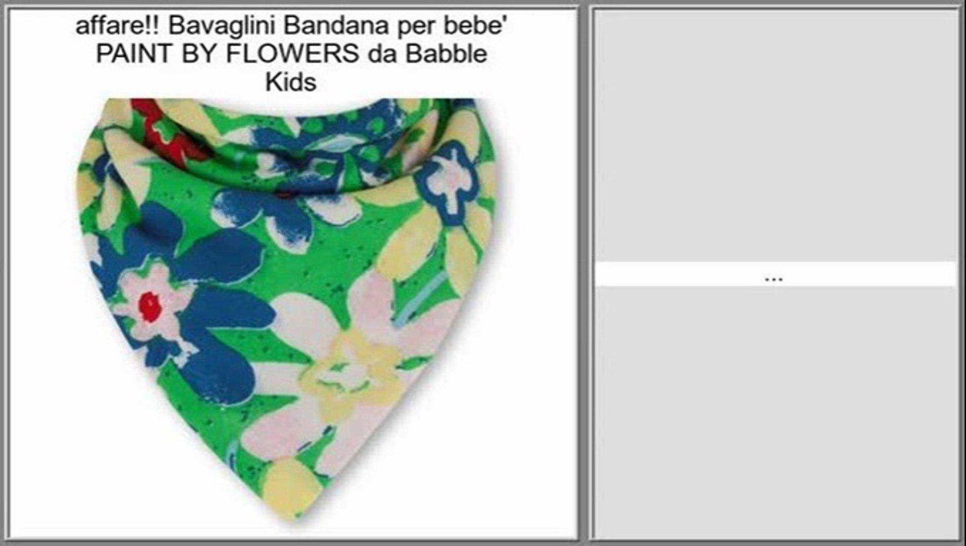 Bavaglini Bandana per bebe' PAINT BY FLOWERS da Babble Kids Recensioni