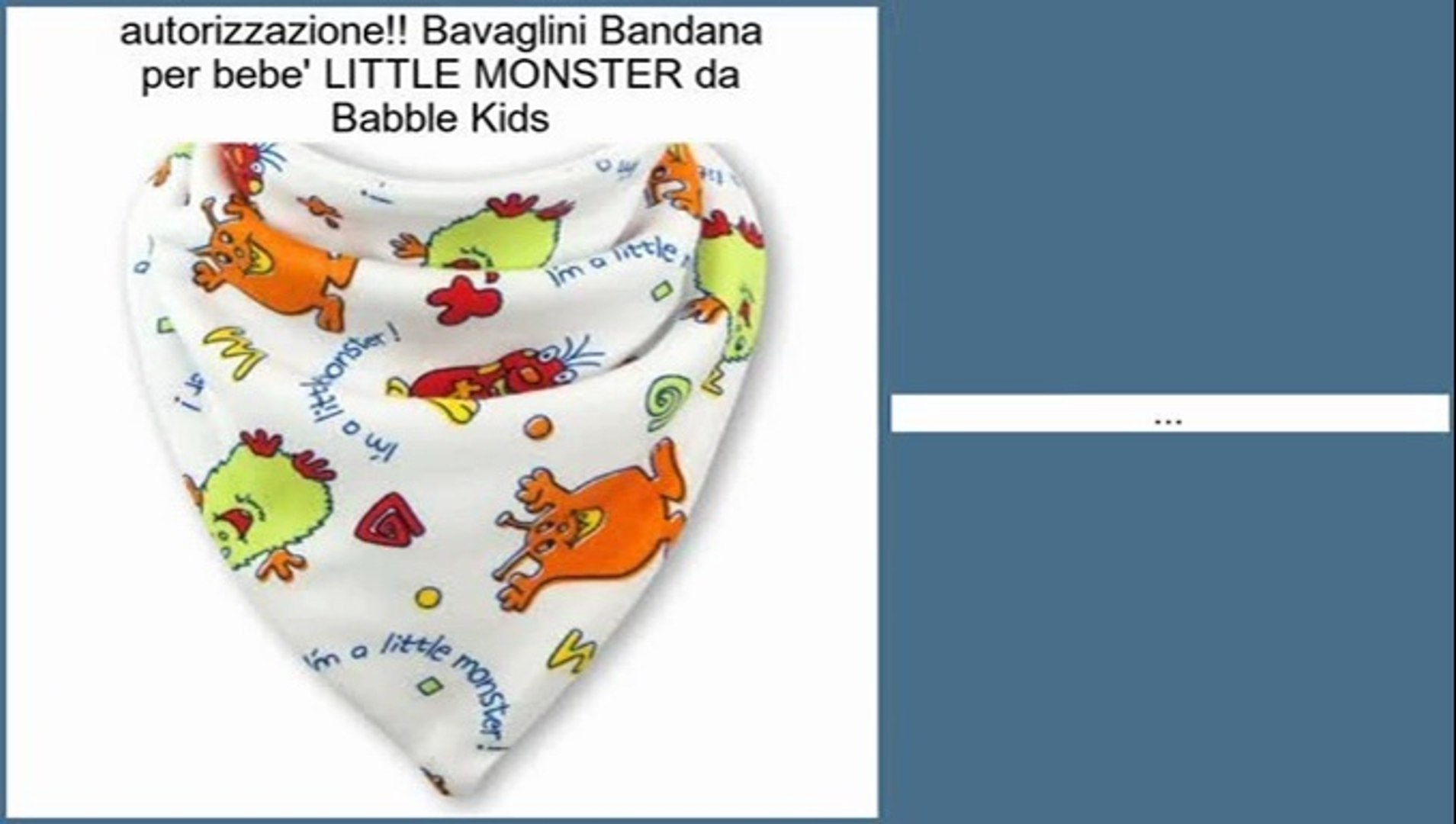 Bavaglini Bandana per bebe' LITTLE MONSTER da Babble Kids Recensioni