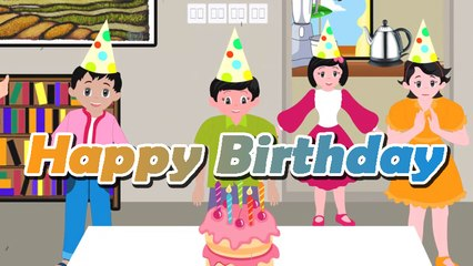 Happy Birthday Song - Nursery Rhymes For Kids - Cartoon Animation For Children