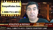 MLB Pick Kansas City Royals vs. Oakland Athletics Odds Prediction Preview 8-12-2014