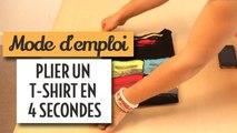 Plier un t-shirt en 4 secondes