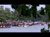 Boats are ready for race - Champakulam snake boat race