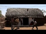 Thatched roof of mud hut - India