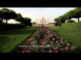 Taj Mahal: View from mehtab bagh across the river