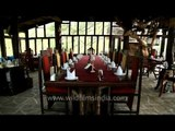 Traditional rustic style dining hall of Ken River Lodge
