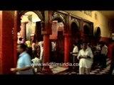 Long queues of devotees at the Sankat Mochan Hanuman Temple