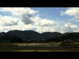 Clouds and shadows on Rice fields: In Ziro
