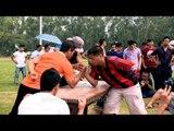 Teaching the arm wrestling techniques at Naga Fest'13
