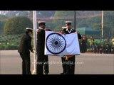 Indian flag folding ceremony