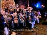 Dancers performing various folk dances of Kerala at Padayani Festival