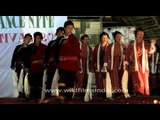Performing Arunachal's traditional dance during Siang River Festival