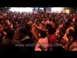 Drum beatings and massive dancing crowds at the Mahashivratri in Varanasi