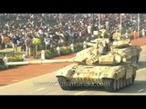 Indian Army's T-90 Bhishma tanks during Republic Day parade.