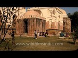 People chilling out at Wazirpur Group of Monuments in Delhi