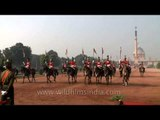 Horse Guards Parade during the Changing of the Guard at Rashtrapati Bhavan, Delhi