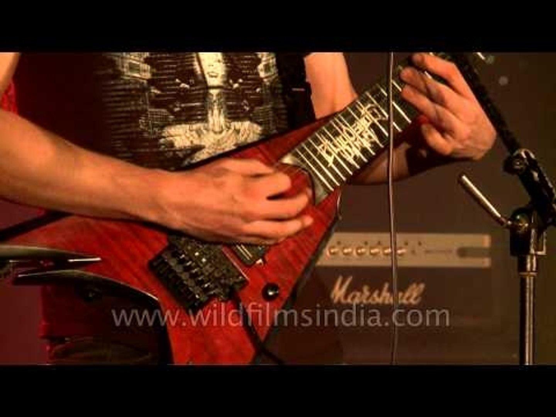 Bloodshot Dawn performs 'Sickening dogma' at the Kohima Metal Fest '12