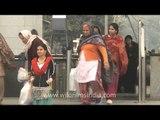 INA metro station towards the INA market in Delhi