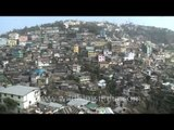 Colorfulness of the houses on the hilly Kohima, Nagaland
