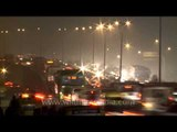 Time lapse of traffic in quick motion near South Delhi