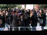Street play at Delhi Haat protesting against Delhi gang rape!