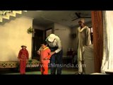 Tallest Indian woman playing with her kids!