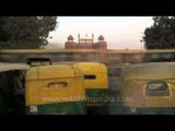 Speedy day to night traffic time lapse at Red Fort