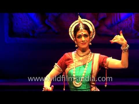 Foreign dancer performing an Indian Classical dance!