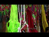 Colourful leashes for colourful Indian livestock at Sonepur Fair