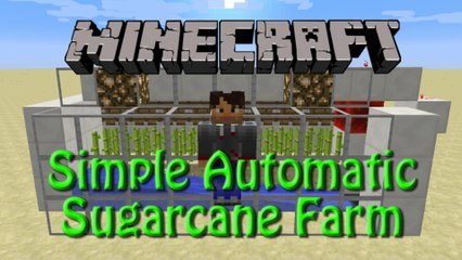 Minecraft: How to build a Fully Automatic Sugarcane Farm, Tutorial for 1.8, simple, compact