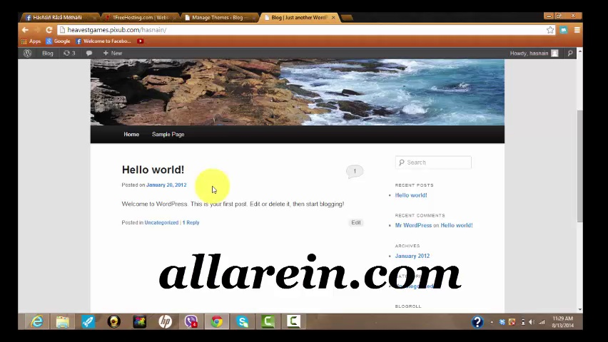 How To Install Word Press Or Any Other Blogging Software In Free Hosting Sub Domain Or Domain