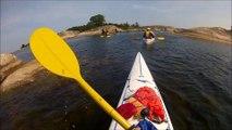 Raid kayak de mer en Suède (Stockholm)