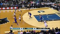 Andrew Wiggins Alley Oop Dunk vs 76ers - Preseason Game Oct 10, 2014