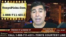 Boise St Broncos vs. Fresno St Bulldogs Free Pick Prediction NCAA College Football Odds Preview 10-17-2014