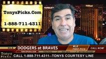 MLB Odds Atlanta Braves vs. LA Dodgers Pick Prediction Preview 8-13-2014