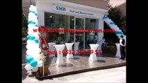 Balon Süsleme 0532 352 5955 Baskılı Balon Papatya Balon Süsleme Zincir Balon Süsleme Açılış Organizasyonu Balon Süsleme