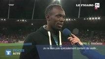 Usain Bolt parle, Nelson Monfort traduit n'importe quoi