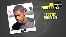 Portrait d'Alef, jeune milieu de terrain brésilien