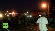 This is no longer a peaceful protest' - police charge on Ferguson protesters