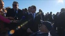 Interview du président de la République lors de la cérémonie internationale à bord du porte-avions Charles-de-Gaulle